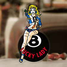 Lady Luck Pegatina Sticker autocollante Consejo Hot Rod Old School 8 Ball 110mm