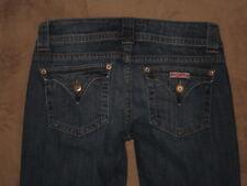 Hudson Size 27 Flare Flap Pocket Dark Blue Stretch Denim Womens Jeans