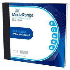 Pack 1 / 5 / 20 BLURAY BD-R DL MEDIARANGE - DOBLE CAPA 50GB - 6x - BLU-RAY