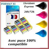Cartouche encre compatible Epson imprimantes SX DX BX XP T1811-T1812-T1813-T1814