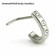 Cubic Zirconia Stainless Steel Nose Piercing Jewellery