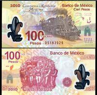 MEXICO 100 PESOS 2007 (2010) P 128 COMM. POLYMER UNC
