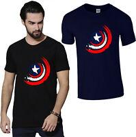 Captain America Shield Marvel T-Shirt, Avengers Superhero Kids Men's Women Top
