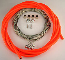 SIX FOOT LENGTH BICYCLE BIKE LINED BRAKE CABLE HOUSING RED//ORANGE 6/'