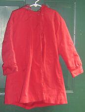 Girls LONDON FOG Red / Plaid / Blue Warm fur Lined Hooded Coat size 5 jacket