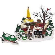 Dept 56 Snow Village ~ The Backyard Patio ~ Mint In Box 52836