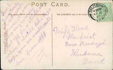 Miss Hood. Llanfoist, New Borough, Wimbourne, Dorset. 1907 - Alf    JE.706