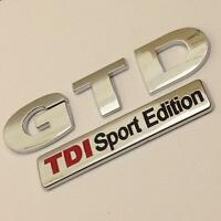 GTD TDI SPORT EDITION Badge Emblem NEW For VW Golf Rear Boot MK4 MK5 MK6