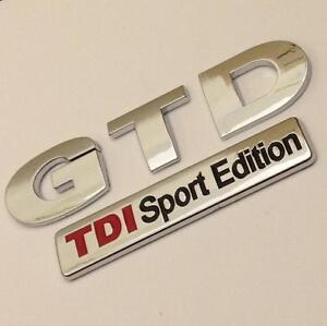 GTD TDI SPORT EDITION Badge Emblem NEW For VW Golf Rear Boot MK4 MK5 MK6