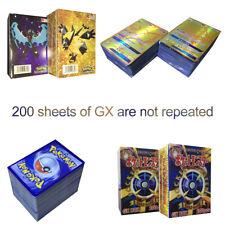 200Pcs Pokemon Cards 195GX+5MEGA Booster Box English Edition Break Point Pikachu