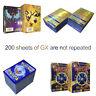 200Pcs Pokemon Cards English Edition Pikachu Holo Trading Flash Card Bundle Mix