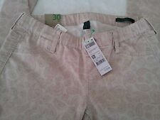 Benetton - Ladies Pink Pattern Jean Jeggings - W28 Inch - BNWT - Retail £29