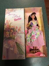 1996 Avon Spring Petals Special Edition Brunette Barbie Doll # 16872 New