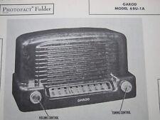 GAROD 6BU-1A SENATOR RADIO PHOTOFACT
