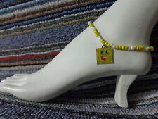 beads anklet beach stretchy handmade Spongebob enamel charm ankle bracelet