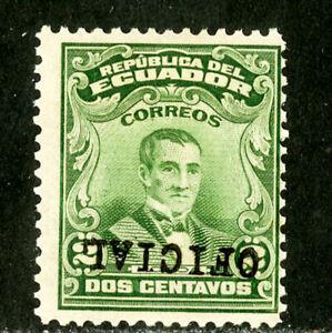 Ecuador Stamps # O160 F OG Inverted
