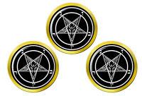 Satanique Pentagramme Marqueurs de Balles de Golf