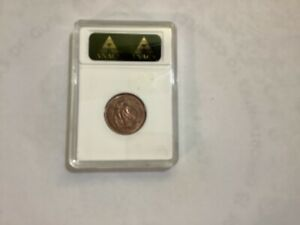 1967 New Zealand 2 Cents ANACS MS 64 RB, MULED WITH BAHAMAS 5C OBV