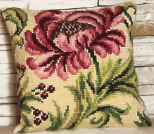 1x Cross Stitch Kit Cushion Wild Rose Right Sewing Craft Tool Hobby Art