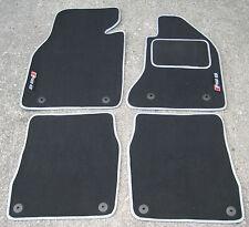 Dark Grey/Silver SUPER VELOUR Car Mats - Audi RS6 C5 (02-04) + RS6 Logos (x2)