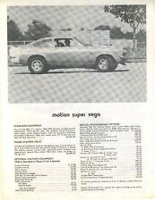 Motion Super Vega Single Sheet 1973