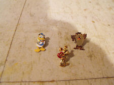 Three Vintage Cartoon Character Lapel Pins from the 70's-80's