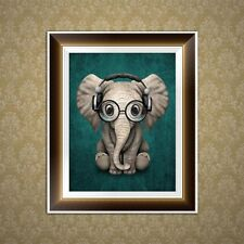 DIY Elephant 5D Diamond Embroidery Painting Cross Stitch Art Craft Home Decor