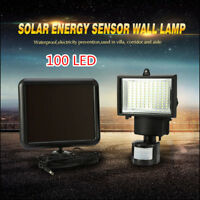 100 LED Garden Outdoor Solar Powerd Motion Sensor Light PIR Security Flood Lamp