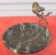 vide poche baguier oiseau bronze marbre époque 1900