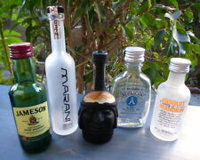 Lot 5 MINI Liquor Bottles w/Caps~Tequila~Vodka 2~Whiskey~iNCA PiSCO BLACK~FreeSH