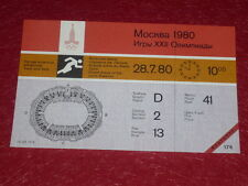 JEUX OLYMPIQUES OLYMPIC GAMES MOSCOU 1980 TICKET ATHLETISME 28.7.80 (10h00) TTBE