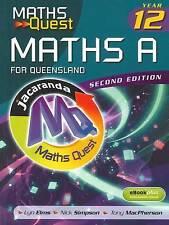 Maths Quest Maths a Year 12 for Queensland 2E & eBookPLUS ' Elms, Lyn