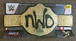NWO WCW CHAMPIONSHIP HEAVYWEIGHT LIVE ACTION KIDS TOY BELT MATTEL WWE