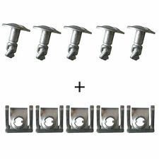 10x Car Gearbox Under Engine Cover Undertray Fitting Clip  Screw Metal For Audi
