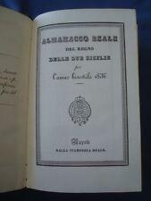 BORBONICA-ALMANACCO REALE REGNO DUE SICILIE ANNO BISESTILE 1836 -FERDINANDO II