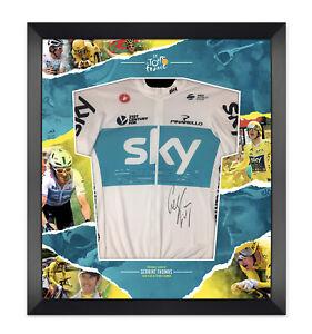 Geraint Thomas Signed & Framed Tour De France Yellow Jersey Team Sky AFTAL COA