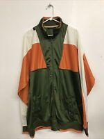 Vintage Rocawear Jacket Green Zip Up 100% Size XXXL Tall 3XLT 90s Hip Hop