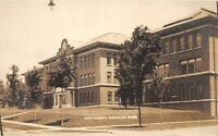 D19/ Cadillac Michigan Mi Real Photo RPPC Postcard 1917 High School Building