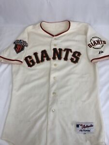 SF Giants Majestic Mens Authentic Jersey Size 44 World Series 2010