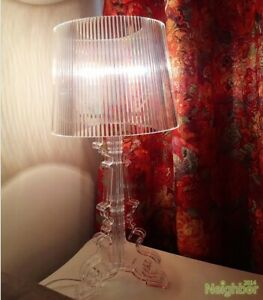 New Modern Multiple Colors Bourgie Table lamp CLEAR Transparent  Desk Light Lamp