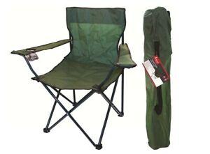 Canvas Camping Chair Portable Fishing Beach Outdoor Garden Chairs Green Folding