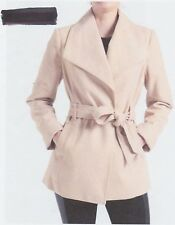 """NEW WOMENS """"RAMPAGE"""" WRAP COAT -  SIZE: SMALL   COLOR: CAMEL   WASHABLE"""