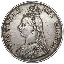 1887 DOUBLE FLORIN - VICTORIA BRITISH SILVER COIN - NICE