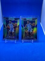 2019-20 Prizm Draft Picks Green & Yellow #70 Coby White /249 (2) Card Lot