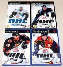 4 PLAYSTATION 2 SPIELE BUNDLE - NHL 2001 2002 2003 2004 MIT HANDBUCH - EISHOCKEY