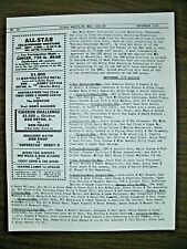 GLOBAL WRESTLING NEWS SERVICE #48 9/79 100'S RESULTS-NEWS ADS! NOSTALGIA! 4 PGS