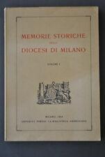 Memorie Storiche Diocesi Milano Zoccolanti Lecco Frate Sforza Milano 1954