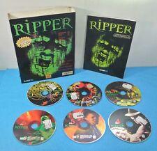 JUEGO PC CD-ROM ESPAÑOL PAL COMPLETO ORIGINAL - RIPPER CAJA GRANDE 6 DISCOS