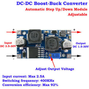 DC-DC 3.3V 5V 6V 9V 12V 24V Adjustable Voltage Converter Boost Buck Step Up Down