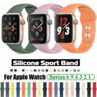 For Apple Watch SE iWatch Series 6 5 4 3/38/42/40/44mm Soft Silicone Band Strap